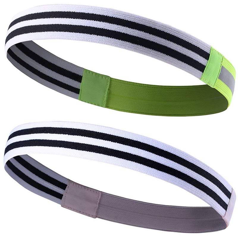 Reflective sport headband and hairband