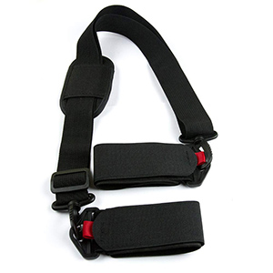 Custom adjustable alpine ski carrier shoulder strap
