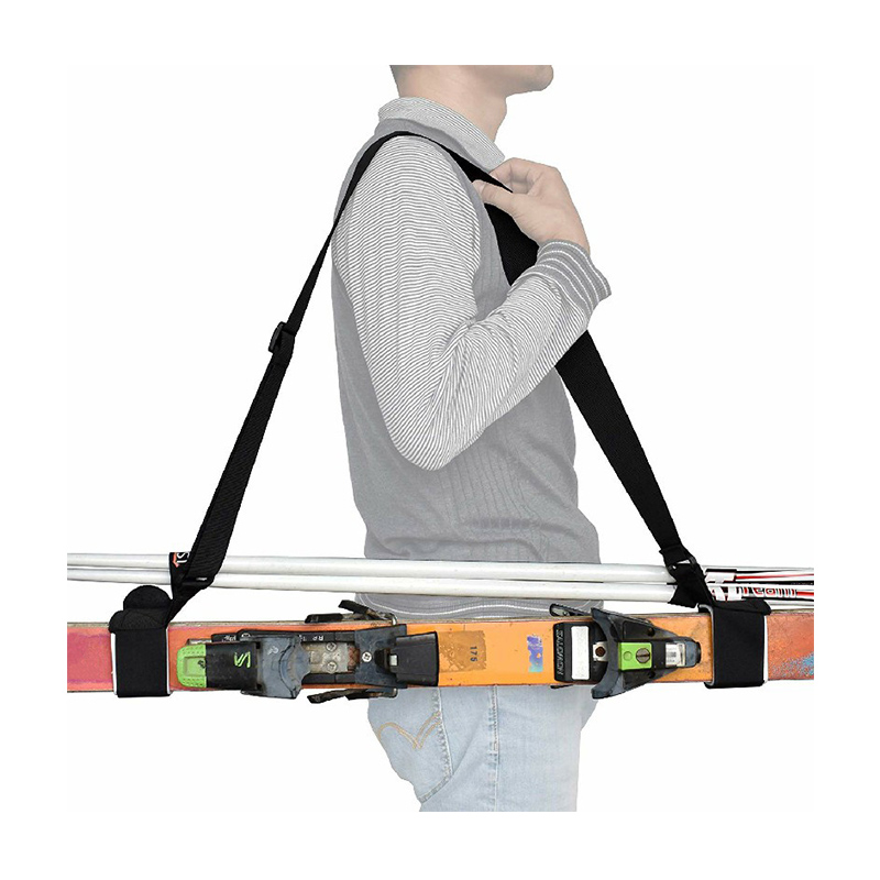 Adjustable Shoulder Sling Leash Ski and Pole Carrier Strap