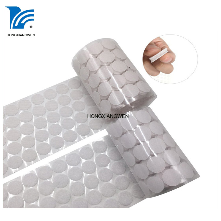 Adhesive hook and loop dots 3m strong sticky nylon dots
