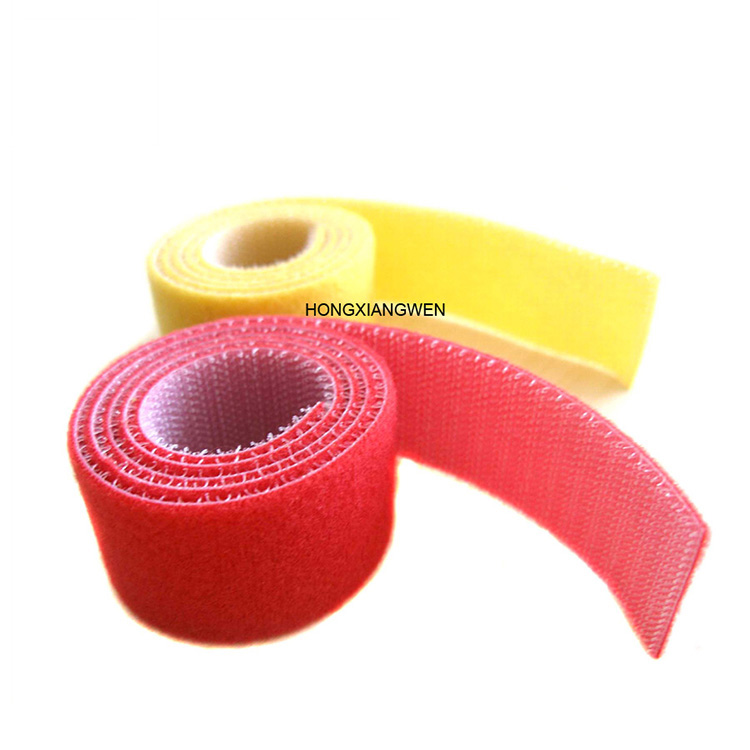 Colorful Nylon Self Adhesive Hook And Loop Back to Back Cable Fastener