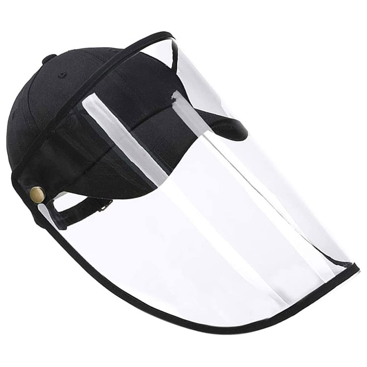 Detachable Anti Splash Droplet Spray Protective Hat Bucket Hat with Face Shield