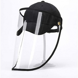 Unisex Transparent Face Shields Anti Spitting Protective Hat Cover