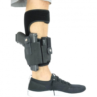 Ankle Gun Holster With Magazine Pouch