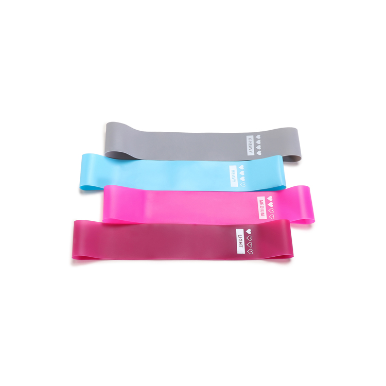 4 Loop Fitness Bands Set Latex Stretch Resistance Workout Bands
